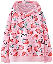 独角兽运动衫女童幼儿和儿童 II 小女孩套头上衣毛衣和连帽衫, D-草莓, 5岁