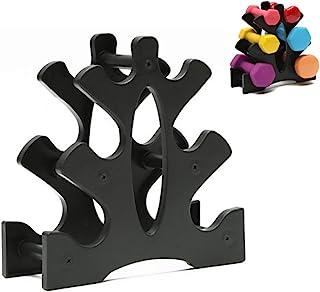 BAIHUI 哑铃架 黑色 3 层哑铃储物架 小巧哑铃支架 家庭健身房锻炼 哑铃锻炼