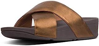 fitflop 女式 lulu 十字架 Slide 皮革凉鞋