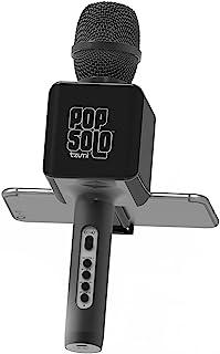 Tzumi Electronics 4955-B PopSolo 蓝牙卡拉 OK 麦克风和扬声器4955-B 常规