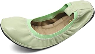 Ollio Women's Shoe Collar Shoe Pull Tab Comfort Ballet Flat