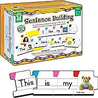 Carson Dellosa 带有86个卡片的句子组建识字资源,适用于幼儿园,1、2年级和英语学习者