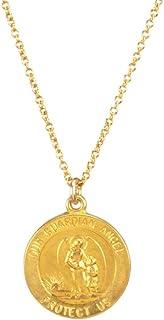 Dogeared 守护天使圣币金浸渍 40.64-45.72 厘米盒装项链