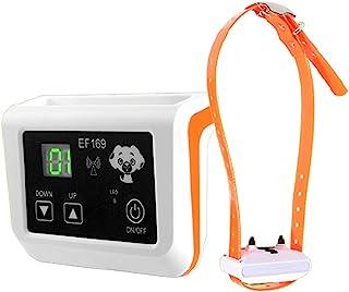 电动便携式无线狗狗围栏和训练项圈振动遥控狗狗训练器,可调节范围,闹钟声音提醒丢失控制,适合所有类型的狗狗