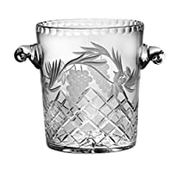 Barski - 手工剪裁 - 吹嘴 - 水晶 - 冰桶 - 21.59 cm 高 - 饰有葡萄藤设计 - 欧洲制造