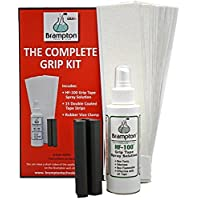 Brampton Complete Grip Kit for Golf Club Regripping ?? Includes 15 Tape Strips, Rubber Vice Clamp, and 4oz Solvent w/Sprayer