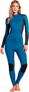 BILLABONG 女式推出 3/2 毫米后拉链平锁潜水服 - 太平洋 - 易拉伸 - 背部拉链开口