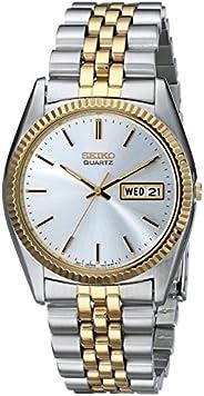 Seiko 精工 男士SGF204不锈钢双色手表,银色