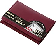 Raymay Fuji 名片夹 附带便签夹 皮革制 酒红色