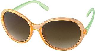 太阳镜 儿童时尚太阳镜 OVAL オレンジ/グリーン