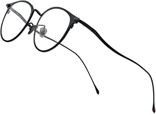 FONEX 钛合金眼镜架,女式圆形近视光学眼镜 8509