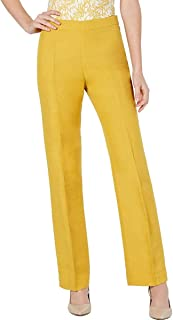 Kasper 女式 Audrey 正装裤小号经典直筒黄色 2P