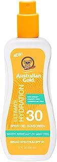 Australian Gold 喷雾凝胶*霜 SPF 30,8 盎司 | 滋润和* | * | 防水 | 不油腻 | 无氧苯甲酮 | 无刺激性
