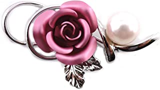 ISUZU MSJ 胸针 阿古屋珍珠 玫瑰 花瓣颜色 叶子 粉色 4978-PK