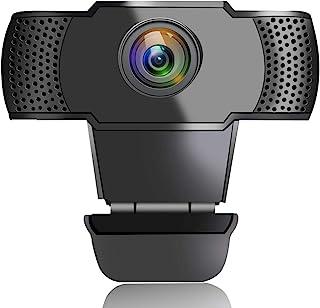 带麦克风的网络摄像头,USB 网络摄像头,适用于电脑,1080P 高清流媒体网络摄像头,适用于台式电脑视频录制/录制/电话/游戏/在线课程,即插即用