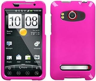 HTC EVO 4G 纯粉色手机保护面板盖