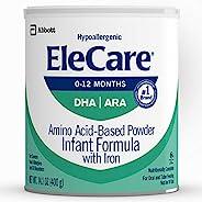 EleCare 婴儿(0-12个月)原味奶粉,含DHA/ARA,每罐14.1盎司(400g),包装以实物为准