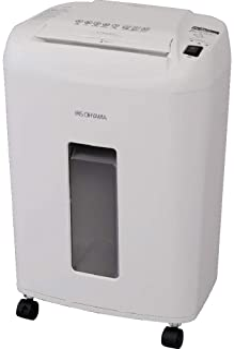 IRIS OHYAMA 爱丽思欧雅玛 细密碎纸机 业务用 静音 微型十字切 细断张数12张 支持订书机连续使用10分钟 可收纳卡 集尘盒 23L A4/550张 OF12M 白色