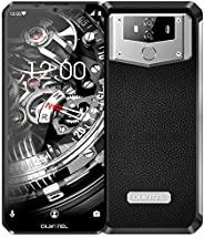 OUKITEL K12 10000mAh 无锁智能手机,6.3 英寸屏幕 64GB 4G 无锁手机,6GB RAM 双 SIM Helio P35 八核,1600 万像素+800 万像素双摄像头解锁手机 NFC Face