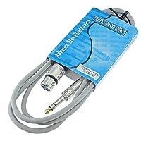 MCSPROAUDIO 0.64 厘米TRS 到 XLR 母頭專業音頻插線平衡和屏蔽(1.83 米長,灰色)