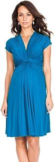 Seraphine 女式前部带结孕妇连衣裙 Seaside(turquoise) 12
