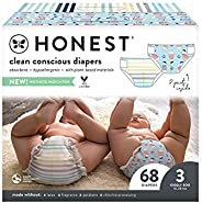 The Honest Company Club Box 尿布,采用 TrueAbsorb 技术,玫瑰花和草莓 Size 3