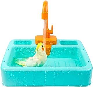 kathson 鸟类浴缸鹦鹉淋浴房浴缸容器笼配件适用于小号中号长尾鹦鹉清洁用品