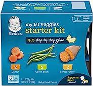 NESCAFE 雀巢咖啡 Gerber 嘉宝 Purees My 1st Vegetables 蔬菜辅食,每盒6盎司,2盎司,桶装(每2包)