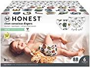 The Honest Company 俱乐部礼盒-Clean Consciou 尿布,字母+骷颅头,尺寸:6号,88计数(包装可能有所不同)