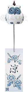 风铃 古染凉风铃 [瓷器] [高 5cm] 纳凉 室内装饰 可爱 凉爽 夏天