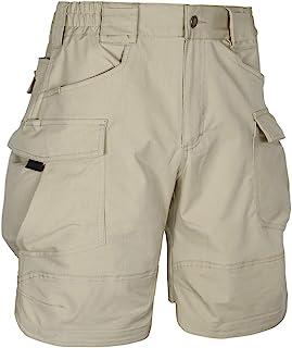 HARD LAND 男式 8.5 英寸(约 21.9 厘米)弹力战术工装短裤防水工作短裤防撕裂弹性腰部徒步旅行
