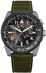 Citizen 西铁城光动能Promaster 夜鹰 42 毫米 双色和橄榄绿表带男式手表 - BJ7138-04E