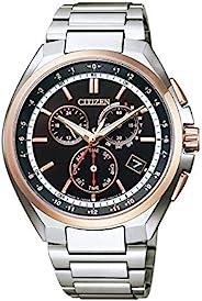 CITIZEN西铁城 腕表 Ateza 光动能驱动 电波手表 成对款 CB5044-62E 男士 银色