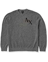 AX Armani Exchange 男式标志套头毛衣