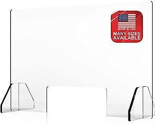 台面打喷嚏防护罩 - 防护隔板,*玻璃防护屏障,适用于*、打喷嚏、水滴 - 亚克力屏幕分隔板 - 办公室,收银员,*处