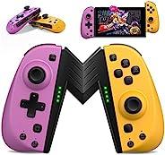 ALIENGT Joypad 控制器替换件适用于 Nintendo Switch Joycon,无线Joy Pad 操纵杆遥控器,带可编程宏按钮,支持涡轮/运动/双振动,适用于 Nintendo Switch