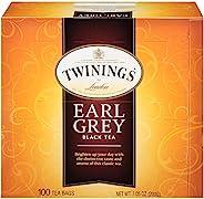 Twinings 川寧 倫敦伯爵灰色黑茶袋,每盒100個(1包),7.05盎司,200克