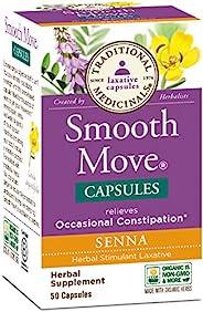 Traditional Medicinals Smooth Move Senna 50粒胶囊(6件装)