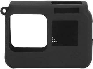 Qiilu 便携式软硅胶保护套防震保护套适用于 Insta 360 One R 4K 运动相机(黑色)