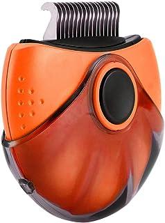 SEGUROS 宠物刷,跳蚤梳,除毛梳,3 合 1 宠物按摩*刷便携式自清洁工具,适用于短毛小狗、小猫、兔子和小宠物,橙色