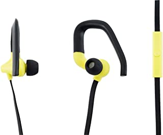 Aiino aihearhook-yl 人体工程学耳机头带麦克风,适用于手机、iPhone 和智能手机,黄色
