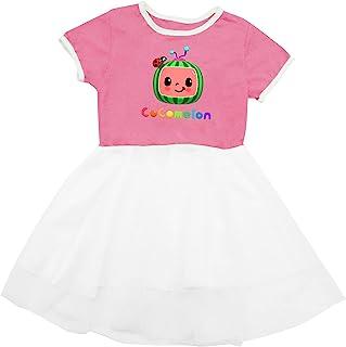 TIFOUTY Baby Cocomelon 生日派对小服装婴儿连衣裙夏季服装可爱网纱裙适合幼儿女婴