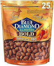 Blue Diamond Almonds Habanero 烧烤风味小吃坚果,25盎司(709g)可重复密封袋(1包)