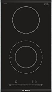 Bosch 博世 6系列 多米诺电磁炉 PKF375FP1E 30cm舒适区 DirectSelect 17个功率档位 PowerBoost 2 高速烹饪区重新启动 TopControl数字显示,黑色