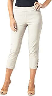 SLIM-SATION 女士加大码套穿纯色露脐真实正面后口袋肩带