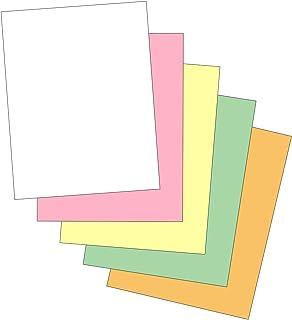 """""""Plain"""" 彩色相间纸 ( 非碳纤维 ) 适用于激光和喷墨打印机 ( 5 部分,包装 )"""