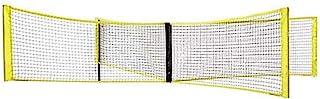 Niome 四方形排球网十字羽毛球游戏网户外训练便携式适用于海滩后院校园