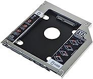 axGear * 2 个 HDD SSD 硬盘 SATA 硬盘盒 适用于 2008 年初 MacBook Pro Superdrive DVD
