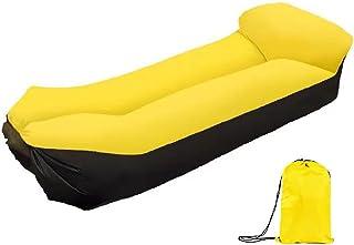 充气沙滩躺椅,露营椅,充气躺椅带枕头,便携,防水,露营,旅行,海滩,充气沙发,非常适合野餐