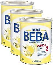 Nestlé 雀巢 BEBA JUNIOR 2 幼儿奶粉 适用于2岁以上幼儿,3罐装(3 x 800g)